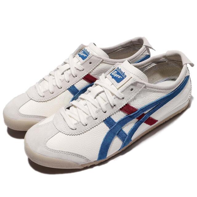 brand new 984e6 b0ae7 ... Asics Onitsuka Tiger Mexico 66 VIN Vntage White Blue Leather Men  TH2J4L-0142 ...