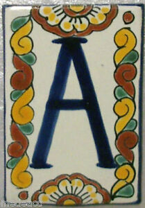 One Mexican Tile With Printed Letter Make Your Own Sign