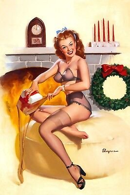Gil Elvgren Dog  Pin-up High Quality Metal Magnet 2.7 x 4 inches 9914