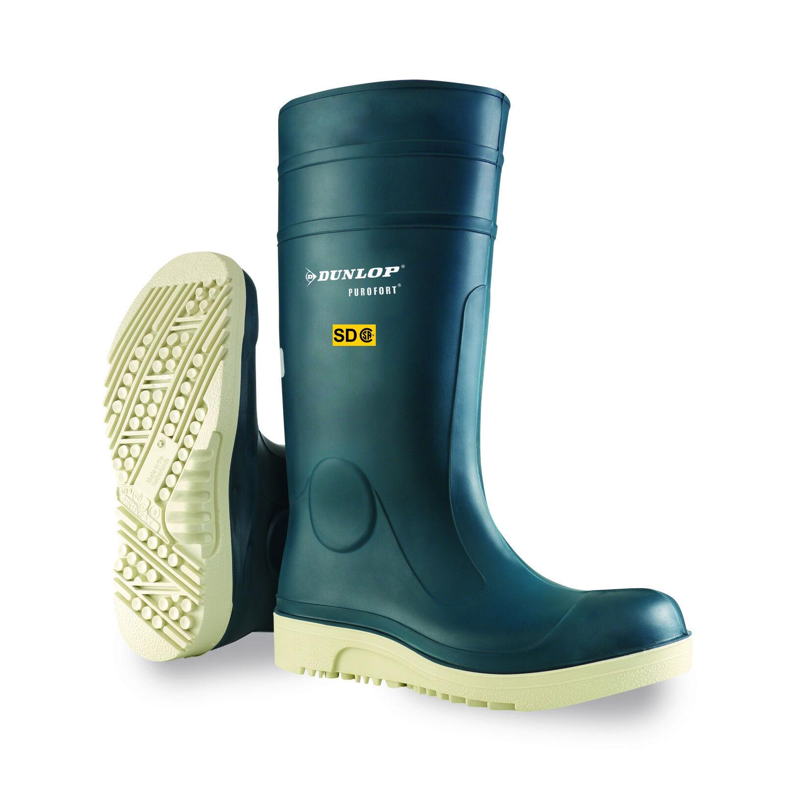 Men's Dunlop Purofort® Comfort Grip Boot in Navy White  F260673