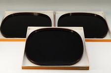 MINT Japan KAWATSURA SHIKKI URUSHI Wooden Tray Set 3pc Free Shipping 649k35
