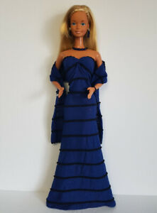 Fits-SuperSize-Barbie-Clothes-WRAP-GOWN-amp-JEWELRY-HM-Fashion-NO-DOLL-dolls4emma