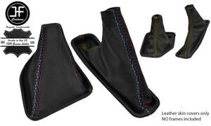 """Gear /& Handbrake Gaiter For BMW E39 Automatic 95-03 Leather /""""MPower/"""" Embroidery"""