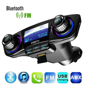 Bluetooth5-0-FM-Transmitter-Car-MP3-Player-KFZ-Freisprechanlage-USB-Charger-Auto