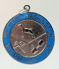 WESTERN WASHINGTON WEIMARANER CLUB enameled medal medallion badge