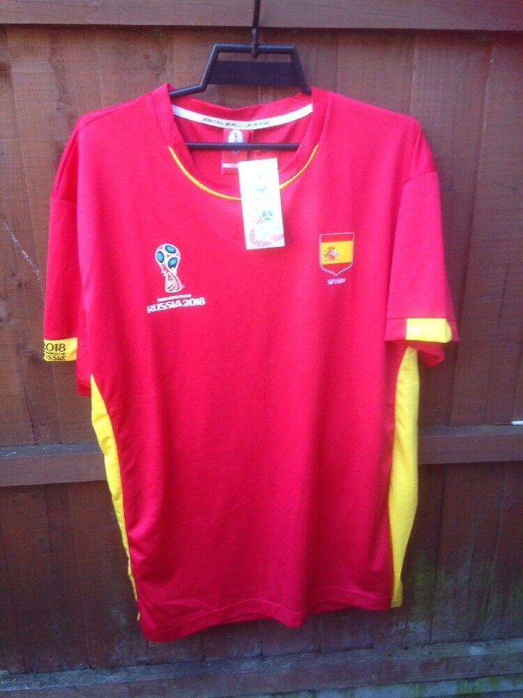 Russia world cup 2018 Spain football shirt 2xl