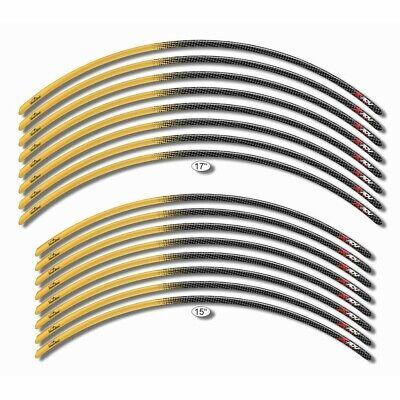 Tiras Adhesivo 3D Compatible con Ruedas Honda X-Adv Rojo