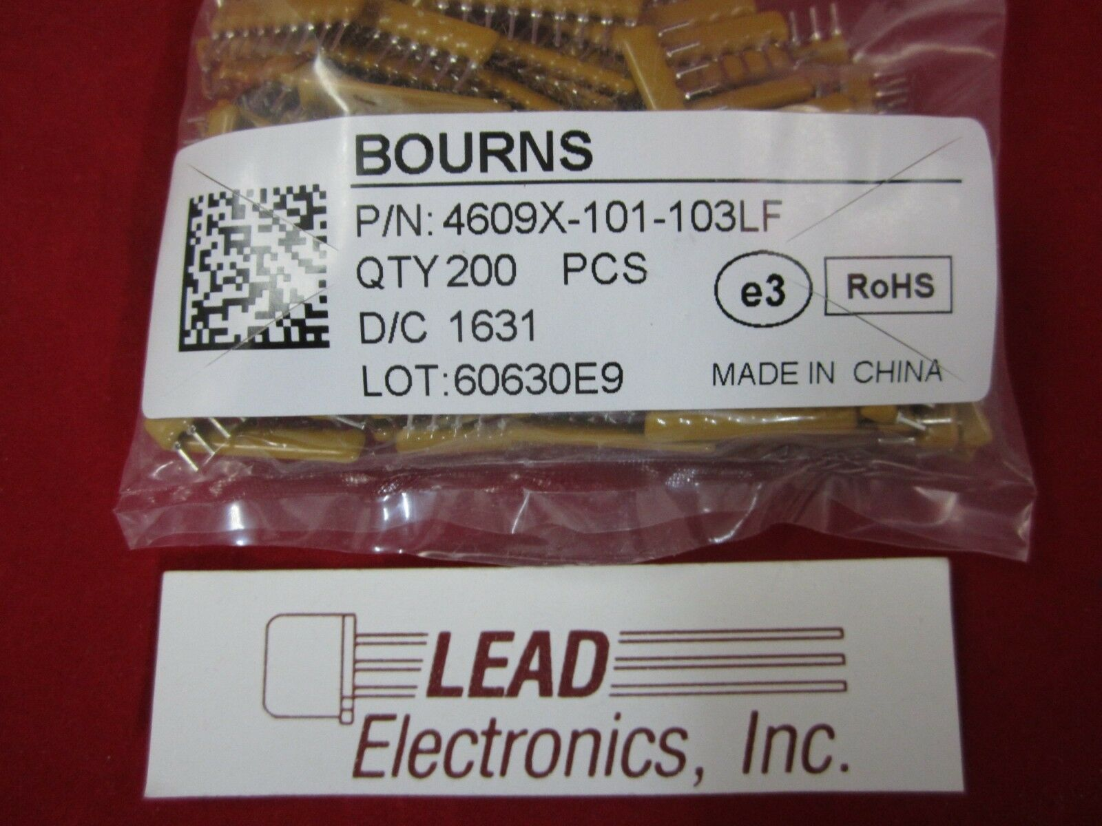 QTY10 BOURNS BUSSED RESISTOR NET WORK  9PIN SIP PACKAGE 10K OHMS 4609X-101-103LF