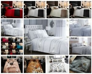 Embellished Chanelle Diamante Murray Damask Bed Set Double King