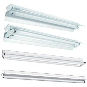 SET-Leuchte-Lichtleiste-Reflektor-EVG-mit-ohne-2X-Neonroehre-T8-60cm-120cm-150cm