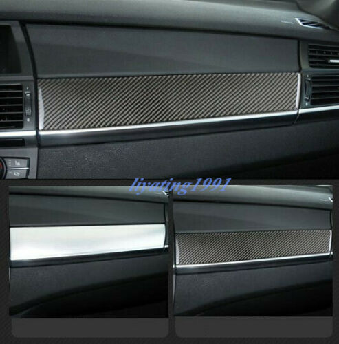 Carbon Fiber Dashboard Center Console Cover Trim Fit For BMW X5 X6 E70 E71 08-13