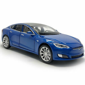 1:32 Tesla Model S Diecast Model Car Sound/&Light Pull Back Cars Toy Kid Gift