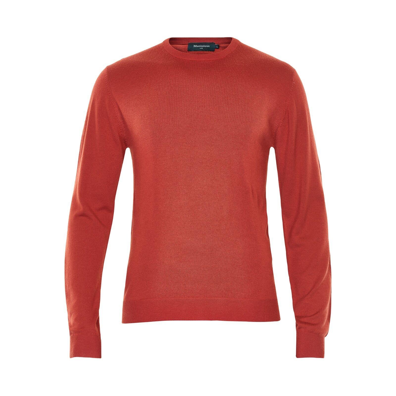 Matinique Margrate Merino Wool Jumper/ROT Ochre - Medium SRP