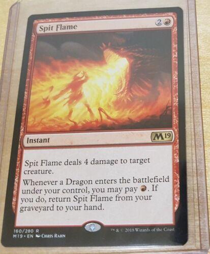 1x Spit Flame MTG Core 19 Rare NM