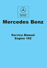 Mercedes Benz W123 200 230E 230CE 230TE Manual De Taller Motor 102
