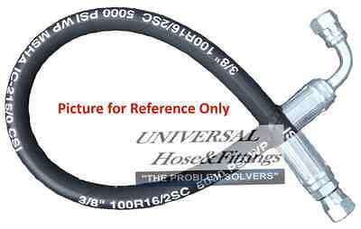 1 Pc of 3//8 X 18 2-Wire 5,000 Hydraulic Hose Assembly 1-Female JIC x 1-Female JIC 90