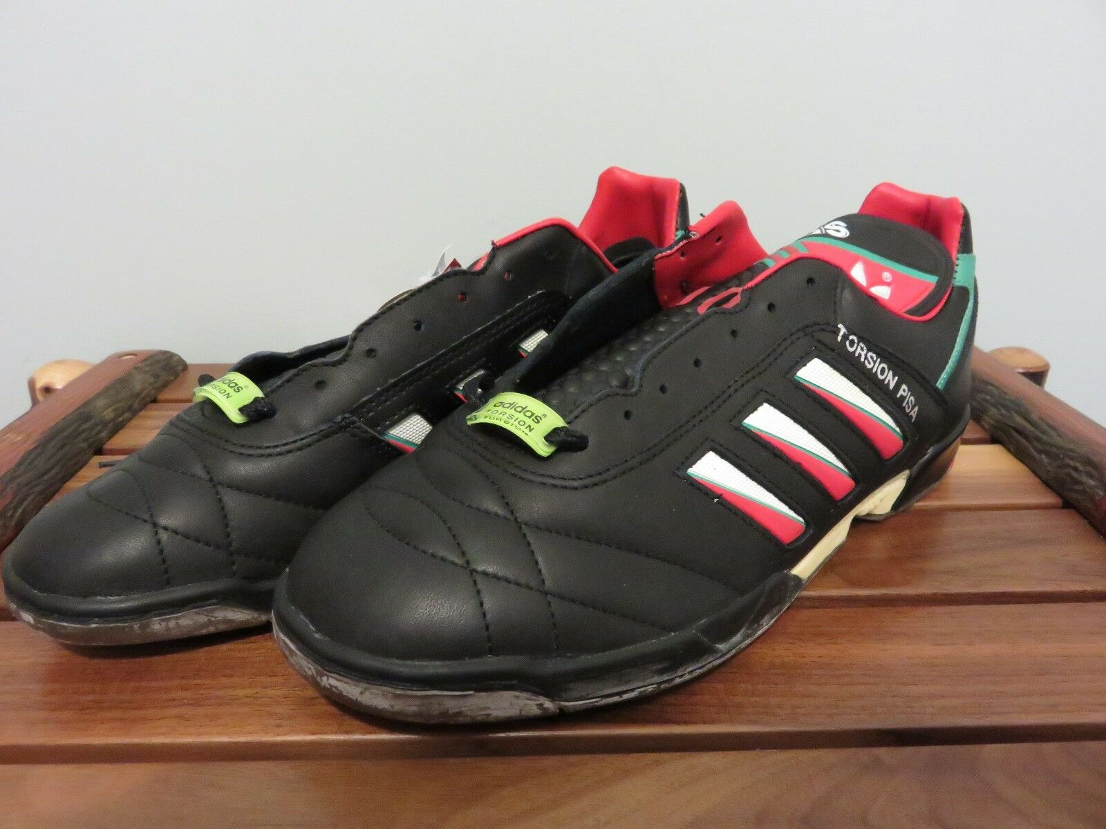 NOS NWT Adidas Torsion PISA Soccer shoes Extremely RARE Tri-Foil 1990 World Cup