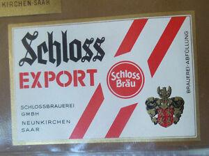 VINTAGE-GERMAN-BEER-LABEL-SCHLOSS-EXPORT-WHITE