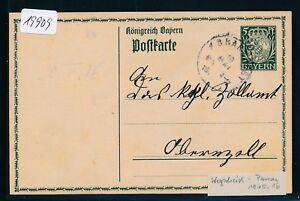 19909) Bayern Bahnpost K1 Wegscheid-passau, Ga 1916-afficher Le Titre D'origine