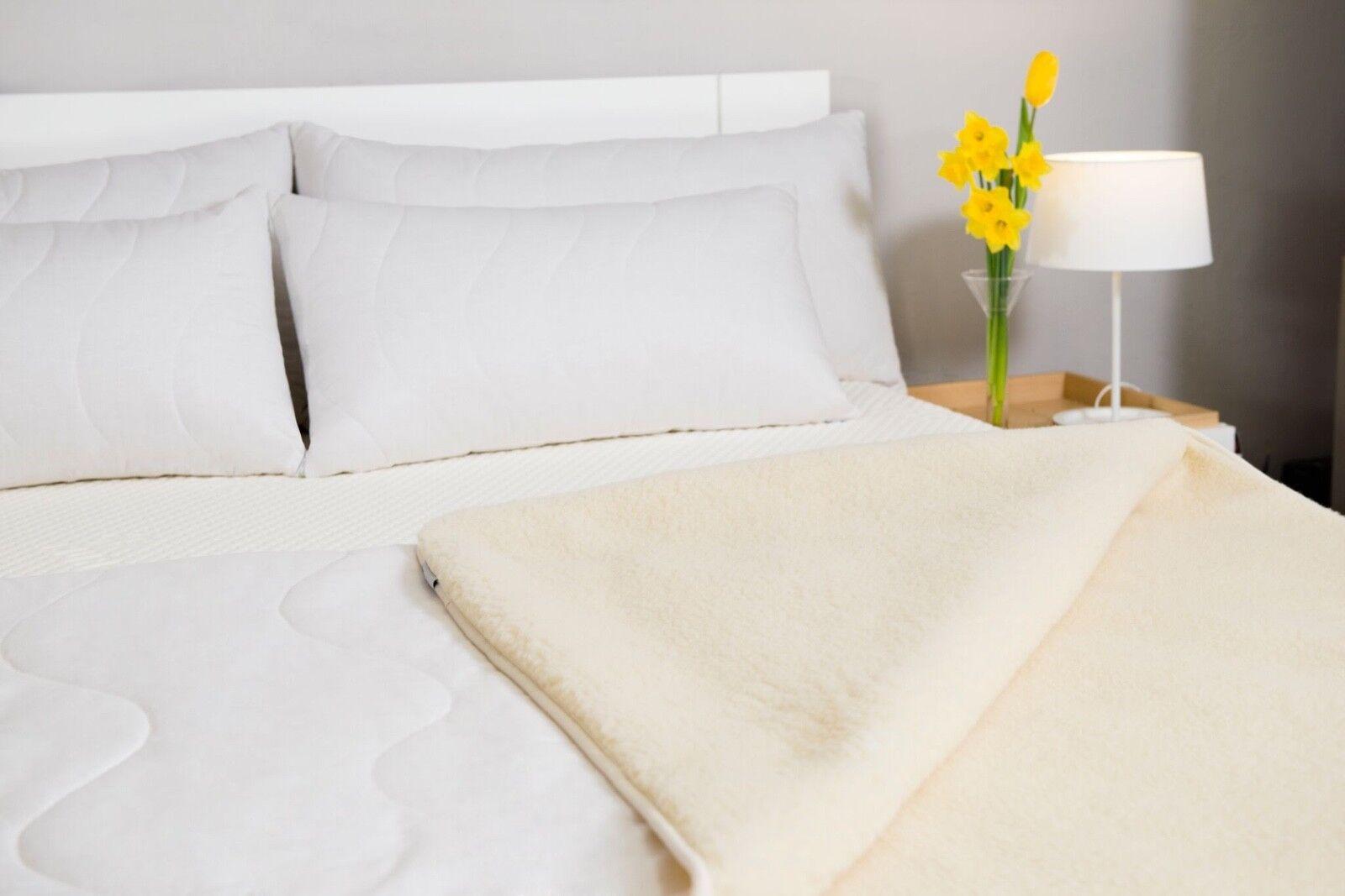 Merino Wool Mattress Topper Cotton Wool Straps corner Single Double King Super