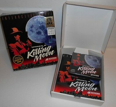 Under a Killing Moon Interactive Movie MS-Dos 4 CD-Rom PC Game User Guide In Box