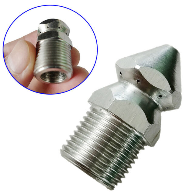 """High Pressure Washer Drain Sewer Cleaning Jetter Spray Nozzle 3//8/"""" Male"""