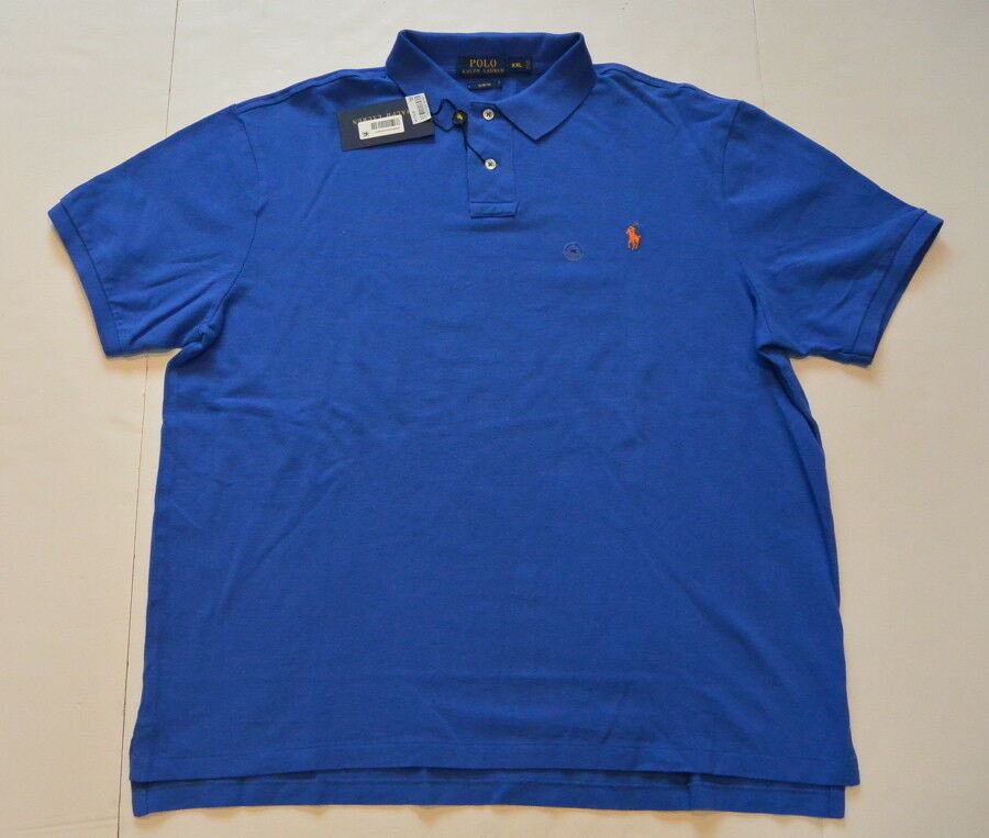 Polo Ralph Lauren Shirt XXL 2XL Slim Fit Royal bluee Cotton Pony Classic Fit New