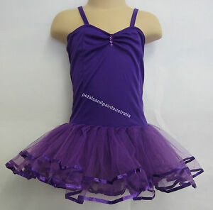 Fairy Dress Ballet Tutu Dance Costume Purple 2-4 Years Polyester Stretch Leotard
