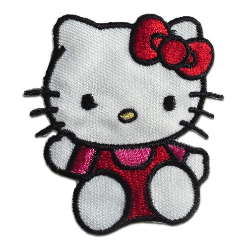 Hello Kitty sitzend children – red Application b Iron on patches 6,4x5,8cm