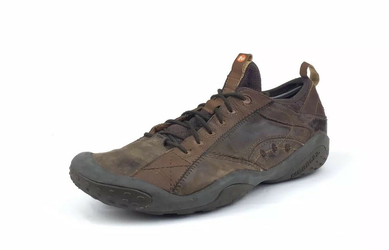RARE Merrell Concorde Men's Brown Leather Hiking Athletic shoes Size 11.5