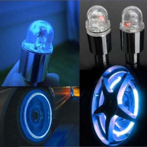 2pcs Glow LED Car Bicycle Wheel Tire Tyre Valve Cap Spoke Flash Light Lamp AU
