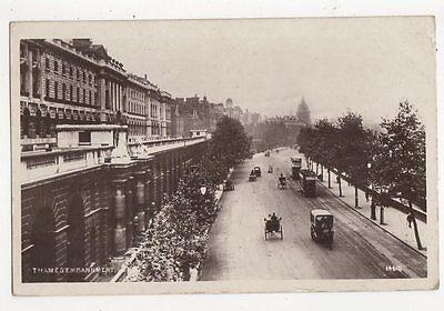 Thames Embankment London Vintage RP Postcard 248a