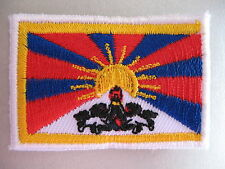 Tibetan Flag Small Iron On / Sew On Cloth Patch Badge Appliqué བོད་ 藏區 Tibet