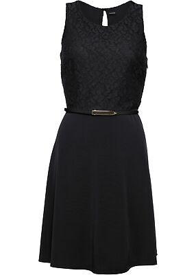 Jersey-Kleid ohne Gurtel Gr. 46 Schwarz Damen Kurzes ...