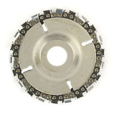 """EZ Install 22 Tooth 4""""  Fine Cut Grinder Disc and Chain - 7/8"""" Arbor  SS478"""