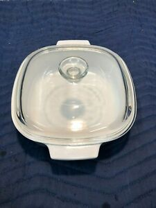 A-2-B2 Liter 2 Liter Peach Blossom Corning Ware Casserole Dish with Clear Glass Lid Baking Dish Vintage Floral Corning Ware Casserole