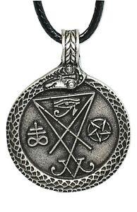 Sigil-of-Satan-Lucifer-Pendant-Ouroboros-Horus-Pentagram-Angel-Occult-Necklace