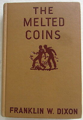 Hardy Boys #23 MELTED COINS Franklin W Dixon Orange Gretta End Pages
