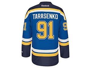 competitive price 3970e be3c4 Details about St. Louis Blues #91 Vladimir Tarasenko Reebok Blue Premier  Jersey (L)