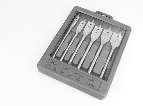 16-18 6 Flachbohrer  Ø 10-12 20-25 mm Flachfräßbohrer Holzbohrer NEU