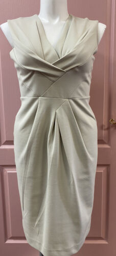 adrienne vittadini Light Grey Fitted Dress Size 12