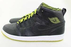 AIR JORDAN 1 RETRO 94 BLACK VENOM GREEN SZ 11.0 RARE NEW AUTHENTIC ... 931b2813d