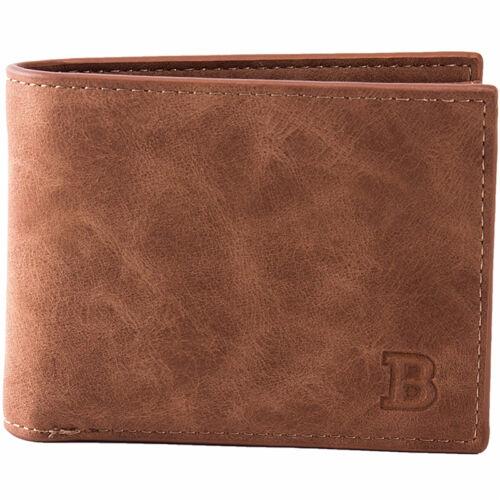 Mini Men/'s Leather Business Wallet Card Holder Man Purse Coin Bag Zipper