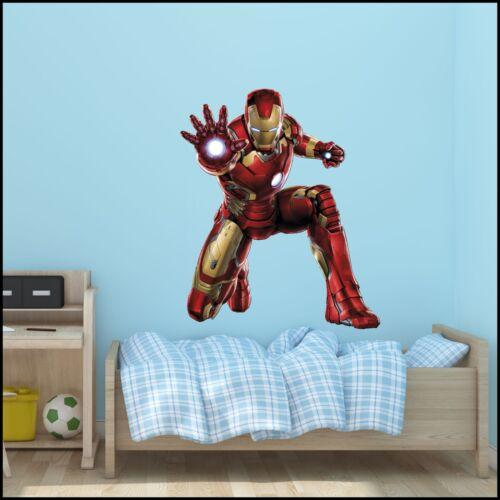 Marvel chambre Iron Man Avengers Wall Sticker Mural Facile Transfert numérique Vinyle