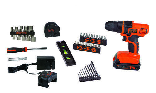 blackanddecker BLACK+DECKER 20V MAX* Cordless Drill Tool Set with 44 Pieces - LDX50PK