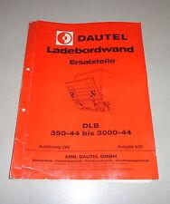 Teilekatalog / Ersatzteilliste Dautel Ladebordwand - Stand 06/1993