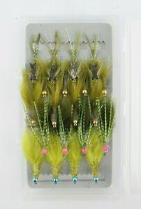 X1-4-5-20-Perle-Tete-de-variete-Damsel-selections-leurres-Fly-Trout-Fishing-Flies