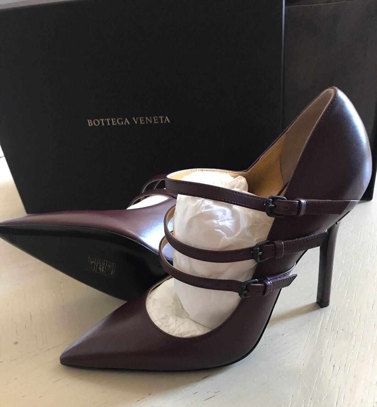 NIB  740 Bottega Veneta Donna's Leather Shoes Burgundy 8.5 US ( 38.5 Eu ) 443156