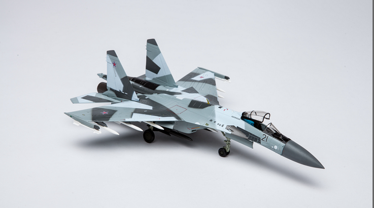 1 72 Russian Air Force SU-35 sideguard-E Fighter Alliage produit fini Modèle