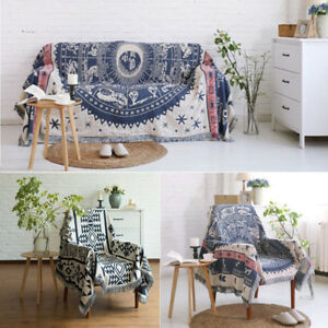 Details About Bohemian Fringes Sofa Towel Quilt Throw Rug Couch Chair Warm Blanket Bed Sheet